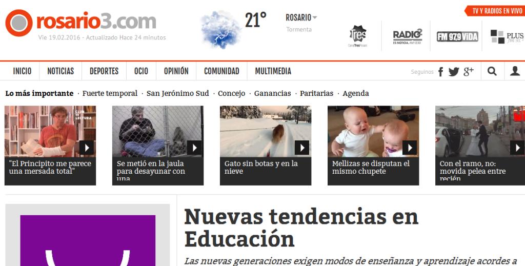 Nuevas tendencias en Educación - Rosario3.com