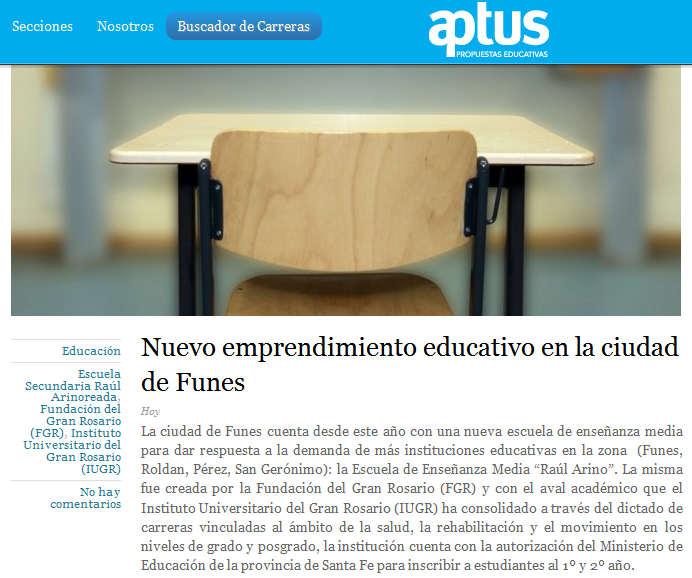 Nuevo emprendimiento educativo en la ciudad de Funes