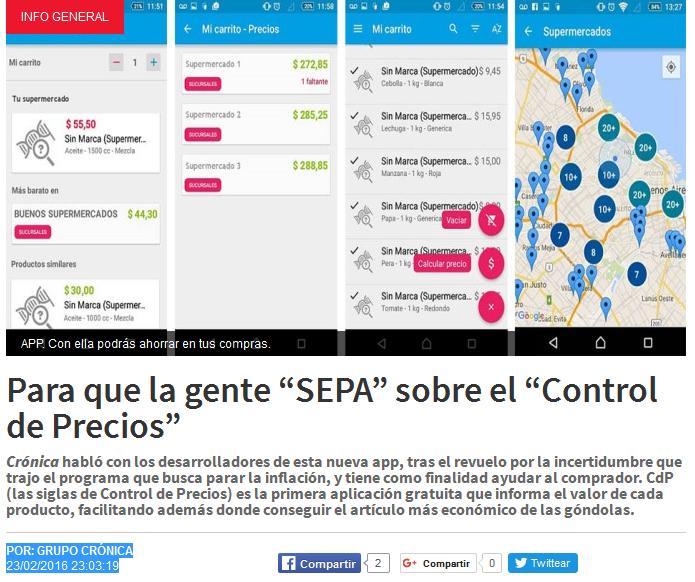 """Para que la gente """"SEPA"""" sobre el """"Control de Precios"""" - cronica"""