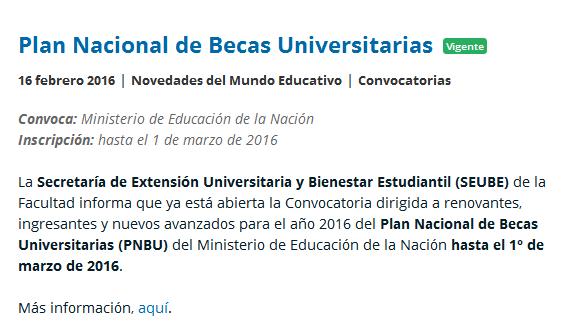 Plan Nacional de Becas Universitarias - Fundación Luminis