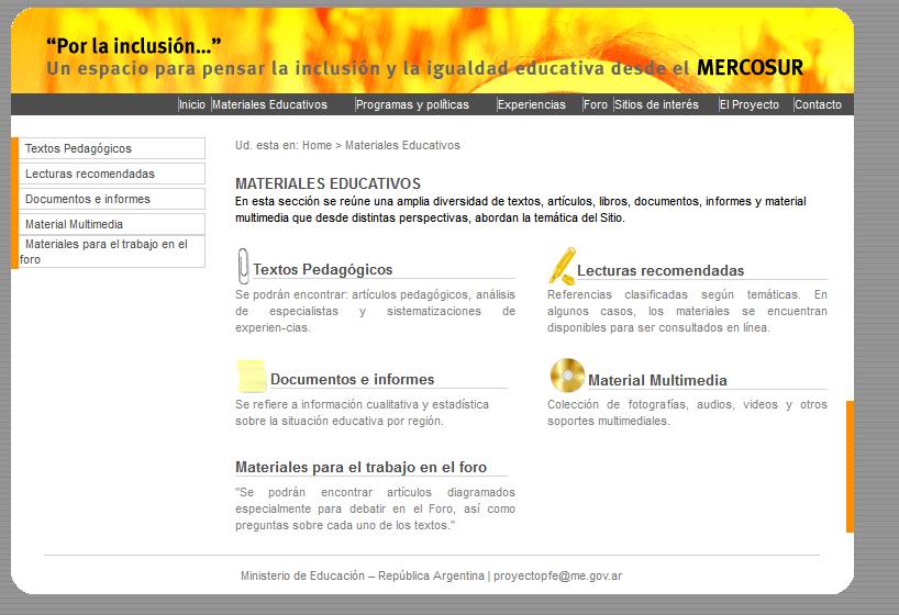 Por la inclusión… Un espacio para pensar la inclusión y la igualdad educativa desde el Mercosur