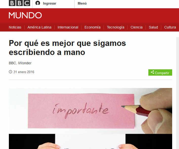 Por qué es mejor que sigamos escribiendo a mano - BBC Mundo