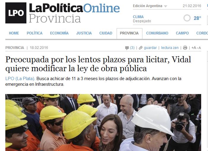 Preocupada por los lentos plazos para licitar, Vidal quiere modificar la ley de obra pública - La Política Online