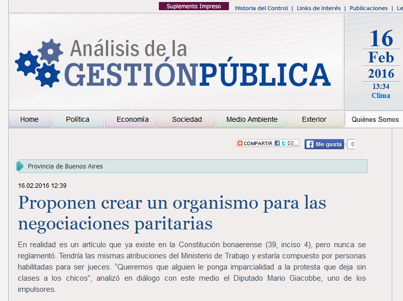 Proponen crear un organismo para las negociaciones paritarias - AGP