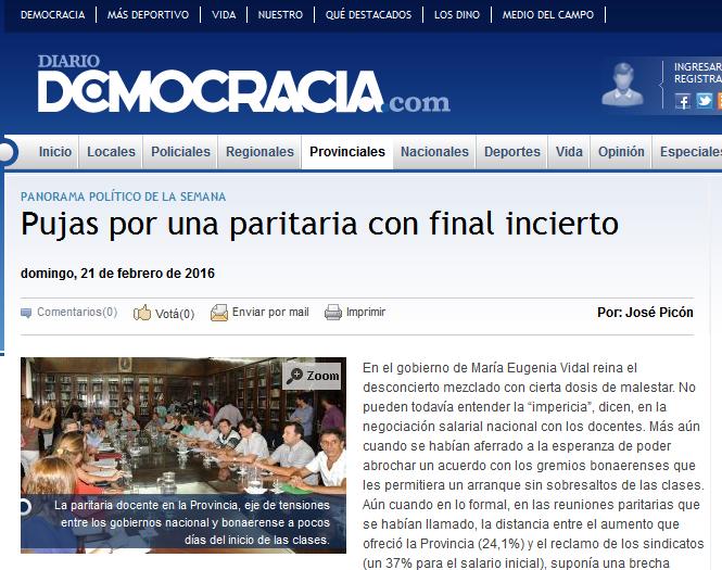 Pujas por una paritaria con final incierto - Diario Democracia - Noticias - Junín - Buenos Aires - Argentina