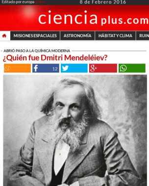 Quién fue Dmitri Mendeléiev