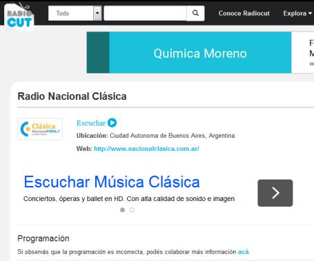 Radio Nacional Clásica - Radiocut