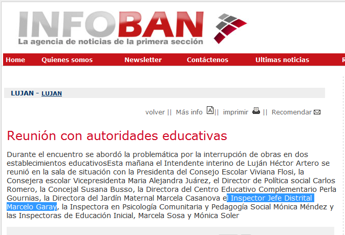 Reunión con autoridades educativas - Agencia de Noticias InfoBAN