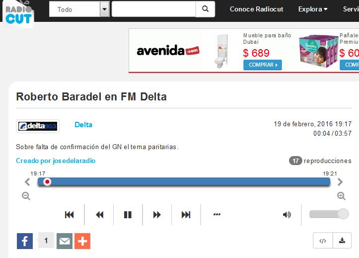 Roberto Baradel en FM Delta - Radiocut