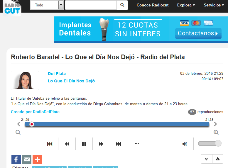 Roberto Baradel - Lo Que el Día Nos Dejó - Radio del Plata - Radiocut