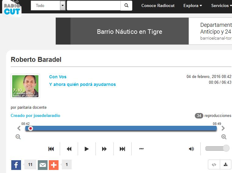 Roberto Baradel - Radiocut
