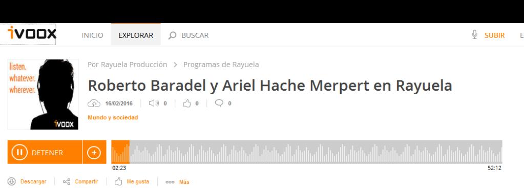 Roberto Baradel y Ariel Hache Merpert en Rayuela en Programas de Rayuela - iVoox