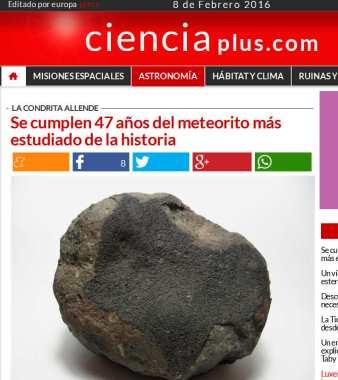 Se cumplen 47 años del meteorito más estudiado de la historia
