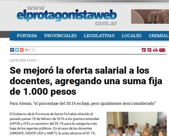 Se mejoró la oferta salarial a los docentes, agregando una suma fija de 1.000 pesos