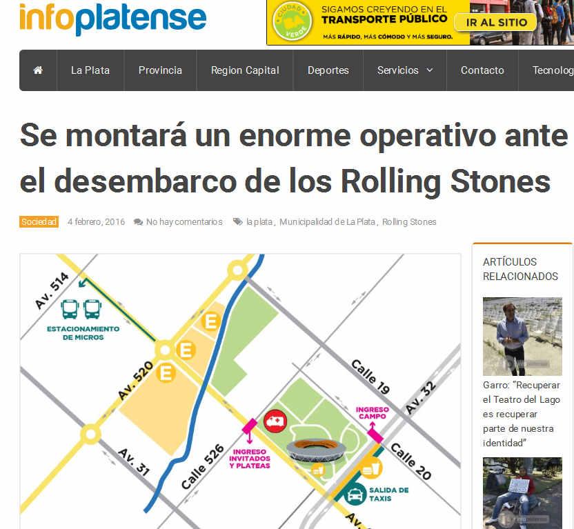 Se montará un enorme operativo ante el desembarco de los Rolling Stones - Info Platense