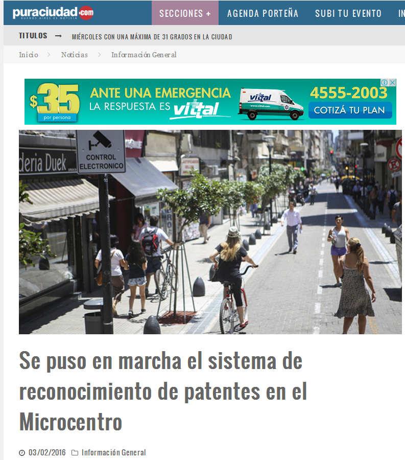 Se puso en marcha el sistema de reconocimiento de patentes en el Microcentro – Pura Ciudad - Noticias de Buenos Aires