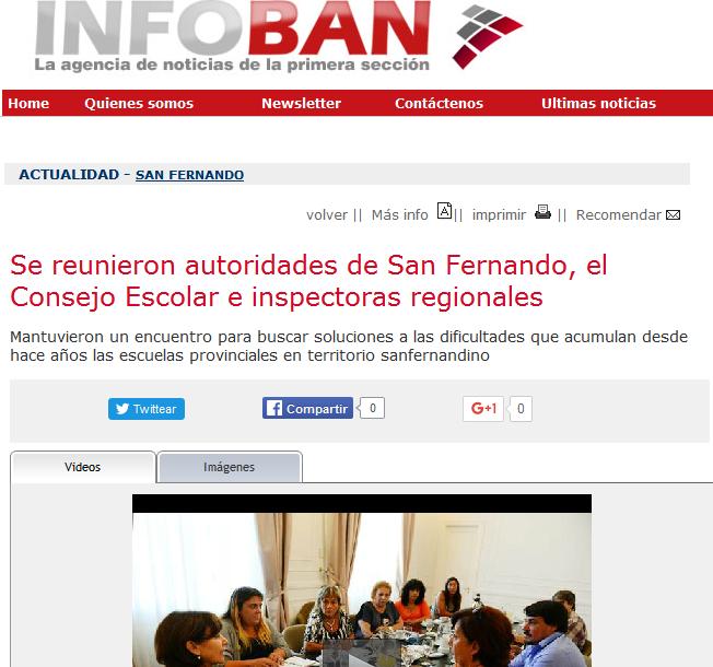 Se reunieron autoridades de San Fernando, el Consejo Escolar e inspectoras regionales - Agencia de Noticias InfoBAN