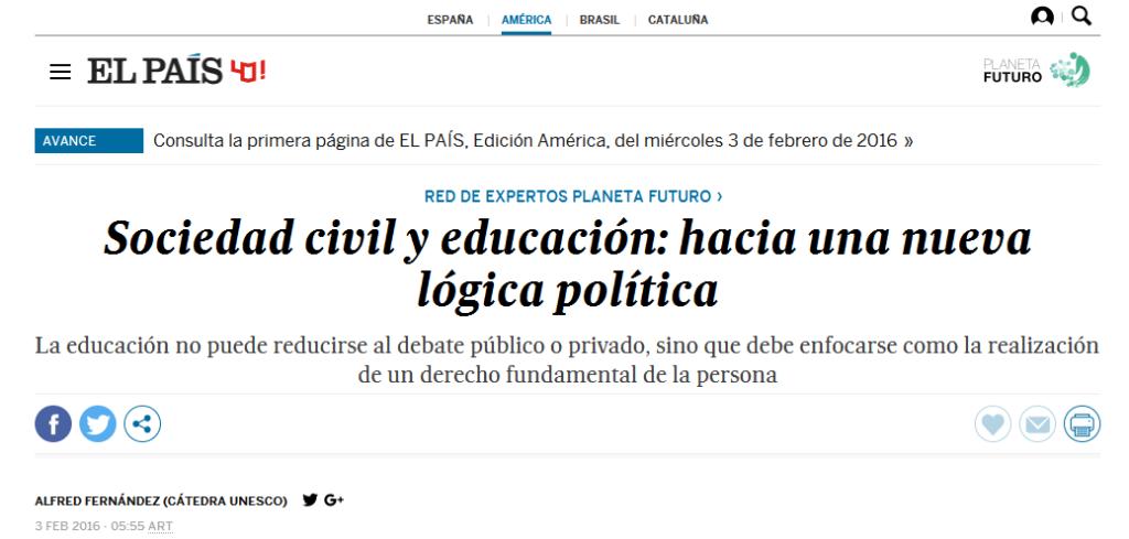 Sociedad civil y educación hacia una nueva lógica política - Planeta Futuro - EL PAÍS