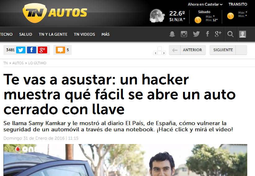 Te vas a asustar un hacker muestra qué fácil se abre un auto cerrado con llave