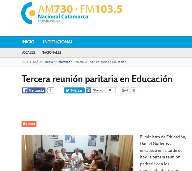 Tercera reunión paritaria en Educación - Radio Nacional Catamarca
