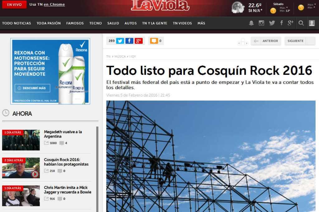 Todo listo para Cosquín Rock 2016