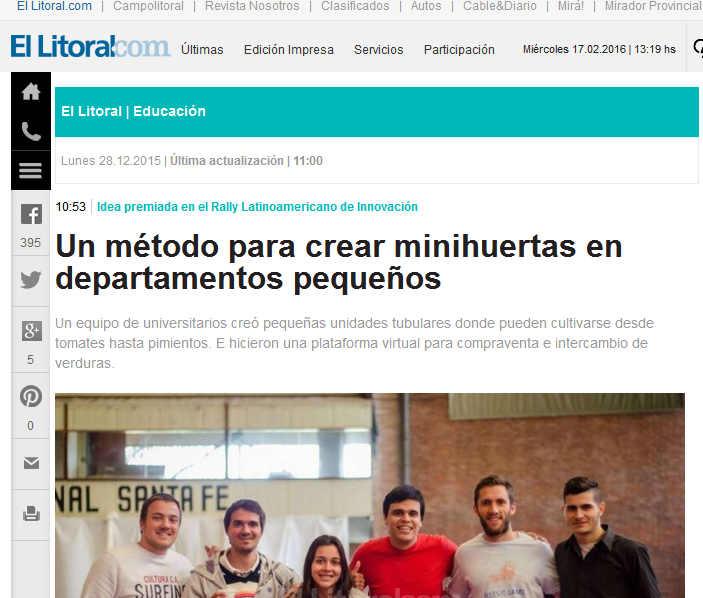 Un método para crear minihuertas en departamentos pequeños Diario El Litoral - Santa Fe - Argentina