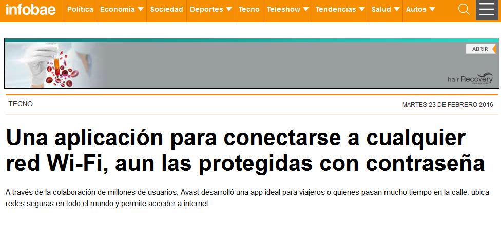 Una aplicación para conectarse a cualquier red Wi-Fi, aun las protegidas con contraseña - Avast, Wi-FI - Infobae