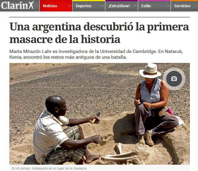 Una argentina descubrió la primera masacre de la historia