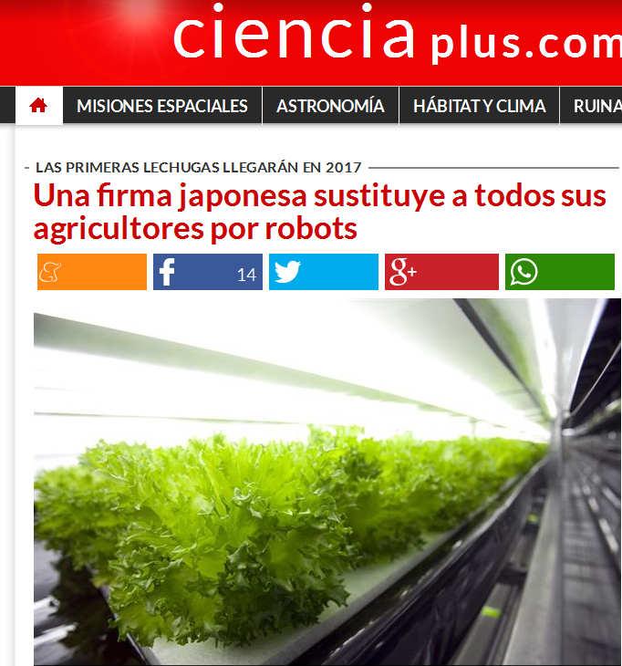 Una firma japonesa sustituye a todos sus agricultores por robots