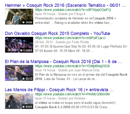 VIDEO COSQUIN ROCK 2016 - Buscar con Google