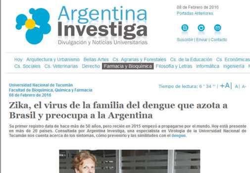 Zika, el virus de la familia del dengue que azota a Brasil y preocupa a la Argentina - Argentina Investiga
