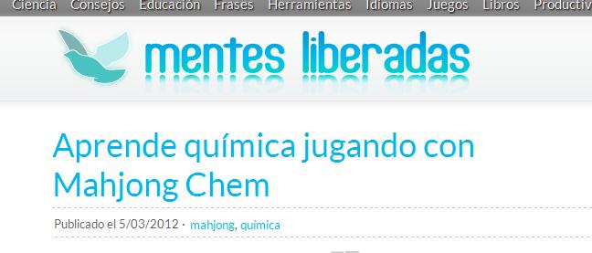 Aprende química jugando con Mahjong Chem - Mentes Liberadas