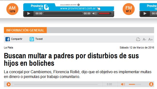 Buscan multar a padres por disturbios de sus hijos en boliches - Radio Provincia