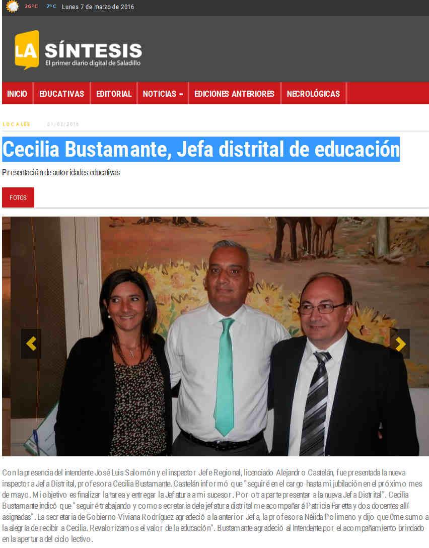 Cecilia Bustamante, Jefa distrital de educación
