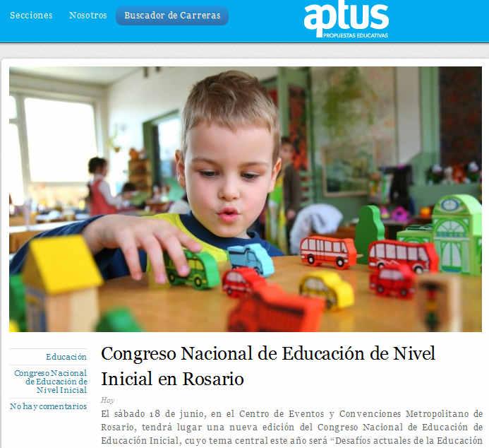Congreso Nacional de Educación de Nivel Inicial en Rosario