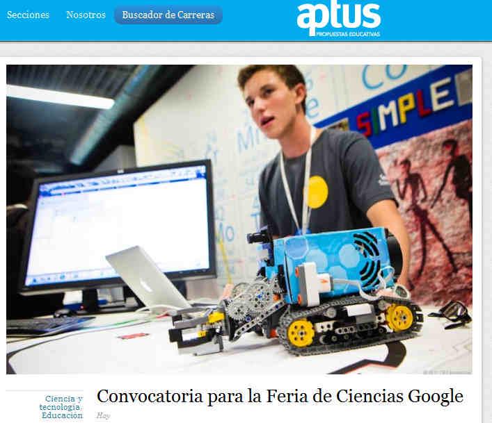 Convocatoria para la Feria de Ciencias Google
