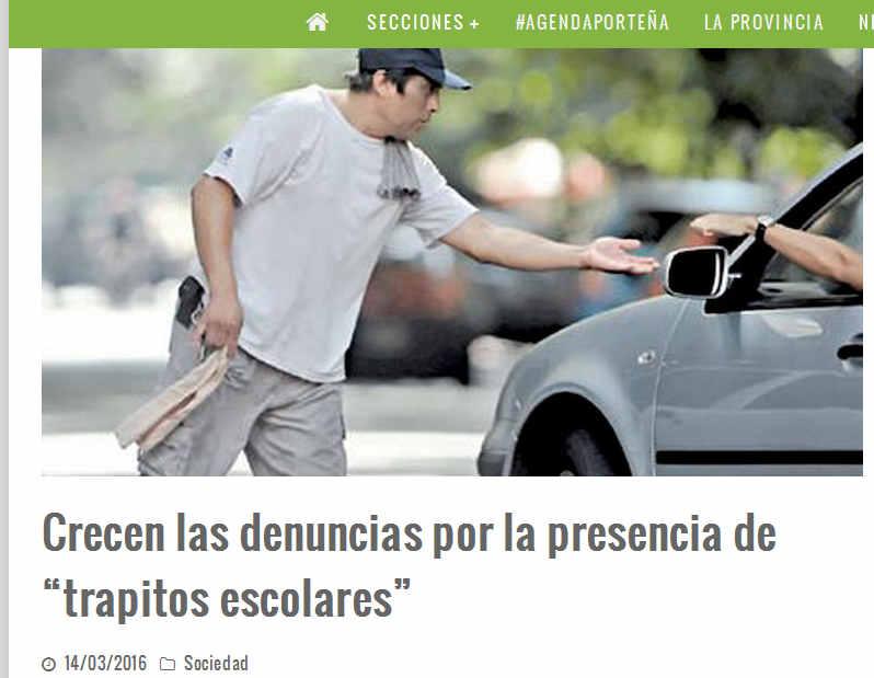 """Crecen las denuncias por la presencia de """"trapitos escolares"""" – Pura Ciudad - Noticias de Buenos Aires"""