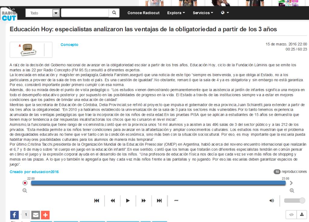 Educación Hoy especialistas analizaron las ventajas de la obligatoriedad a partir de los 3 años - Radiocut