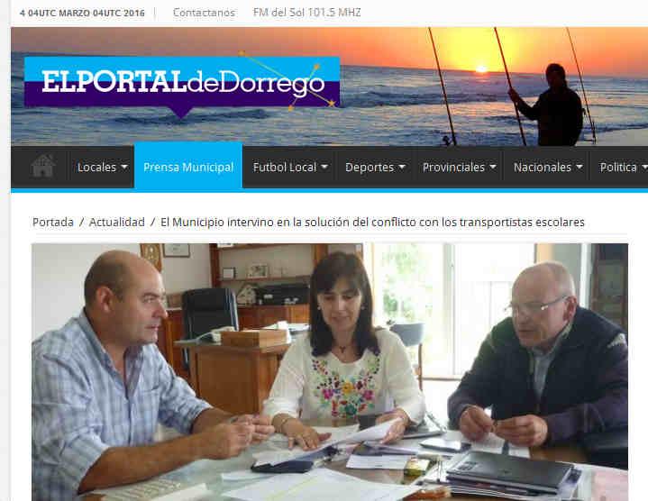 El Municipio intervino en la solución del conflicto con los transportistas escolares – El Portal de Dorrego