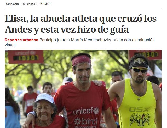 Elisa, la abuela atleta que cruzó los Andes y esta vez hizo de guía