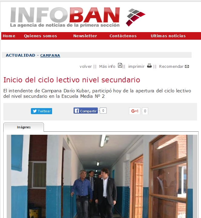 Inicio del ciclo lectivo nivel secundario - Agencia de Noticias InfoBAN