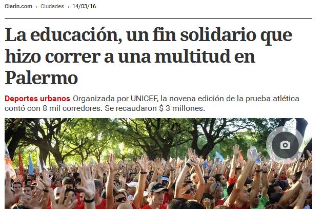 La educación, un fin solidario que hizo correr a una multitud en Palermo