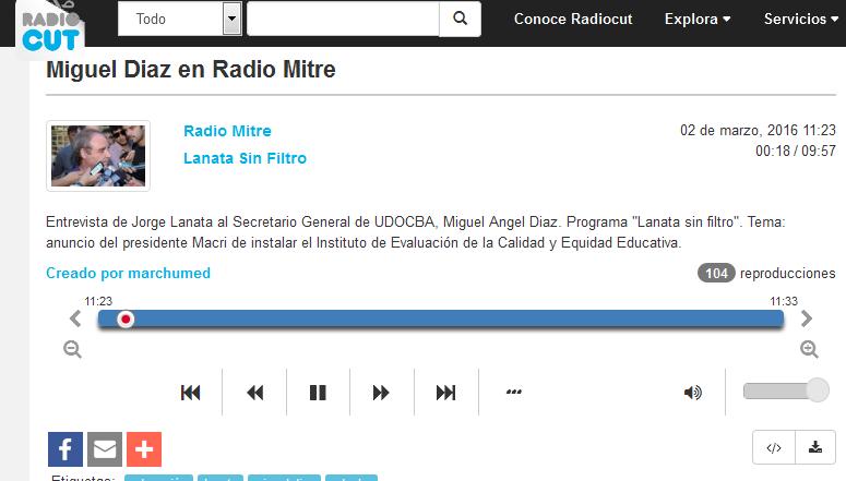 Miguel Diaz en Radio Mitre - Radiocut