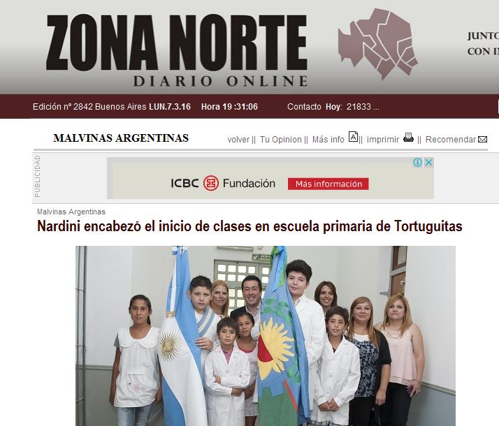Nardini encabezó el inicio de clases en escuela primaria de Tortuguitas - Zona Norte Diario Online