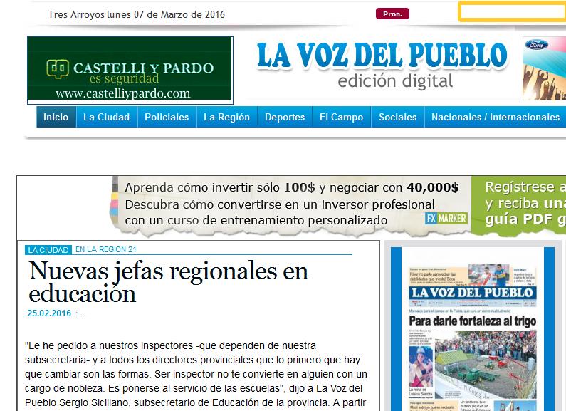 -Nuevas jefas regionales en educación