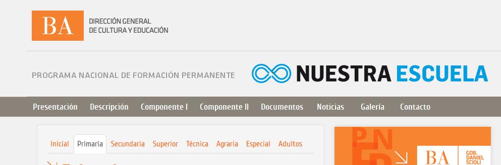 PNFP - PROGRAMA NACIONAL DE FORMACIÓN PERMANENTE. Provincia de Buenos Aires.