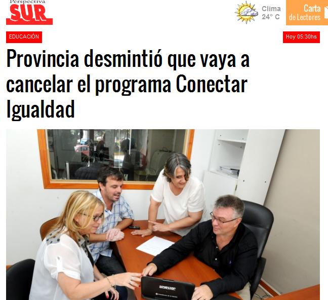 Provincia desmintió que vaya a cancelar el programa Conectar Igualdad