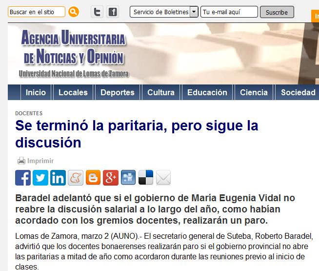 Se terminó la paritaria, pero sigue la discusión - Agencia Universitaria de Noticias y Opinión