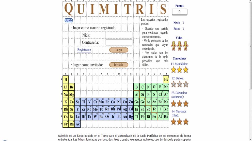 Aprender la tabla peridica en forma entretenida jugando quimitris sin ttulo urtaz Gallery