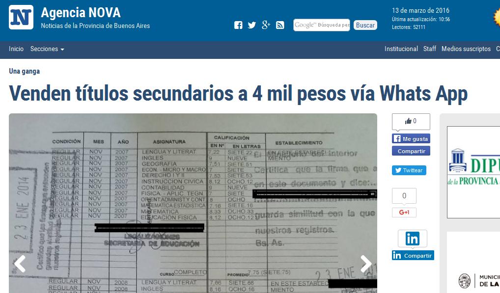 Venden títulos secundarios a 4 mil pesos vía Whats App(1)